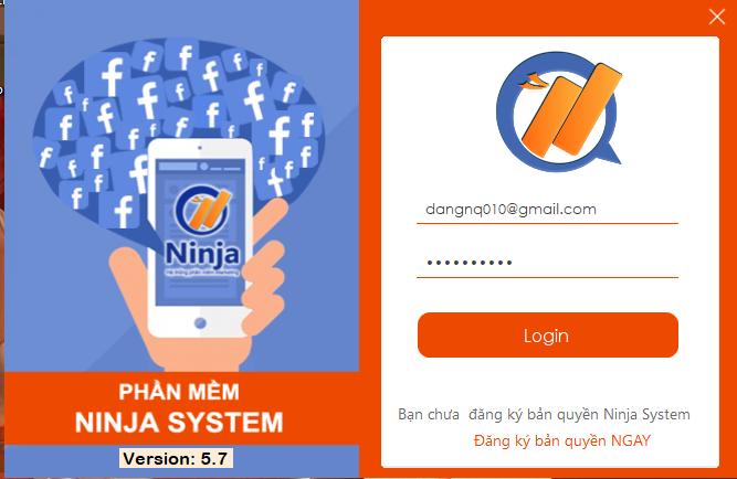 Hướng dẫn nhập nick Facebook vào phần mềm Ninja System