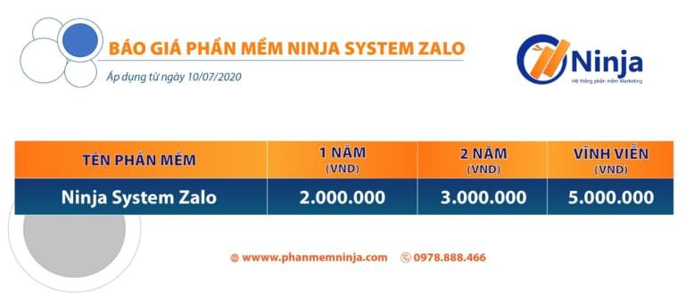 giá ninja system zalo