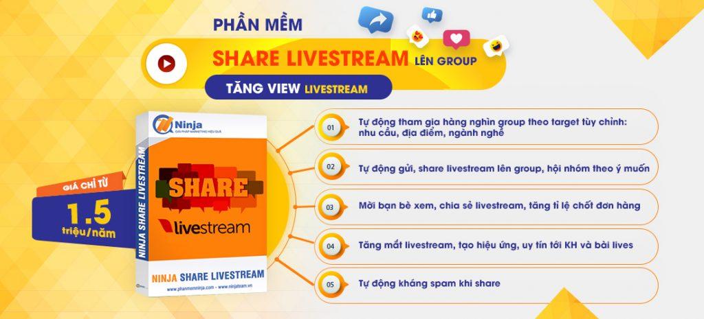 Phần mềm Ninja Share Live Stream
